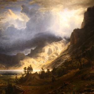 Albert Bierstadt : Storm in the Rocky Mountains