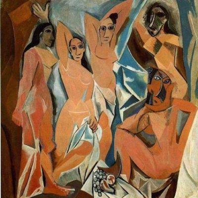Les Demoiselles d'Avignon developed by the famous Pablo Picasso